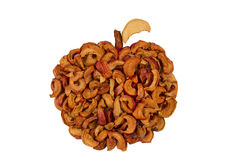 Organische droge appelen Royalty-vrije Stock Foto's