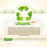 Organische eco Schablone Stockbilder