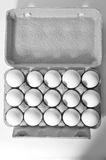 Organische Eier Stockfotografie