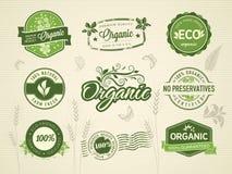 Organische etiketten Stock Foto's
