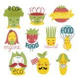 Organische etiketten en elementen Royalty-vrije Stock Foto