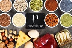 Organische fosforbronnen stock afbeeldingen