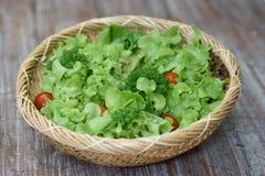 Organische fruitsalade stock afbeeldingen