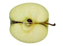 Organische geëtiketteerdek appel royalty-vrije stock afbeelding