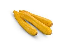 Organische gele Courgettes Royalty-vrije Stock Fotografie