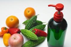 Organische Gemüsewäsche Stockfotografie