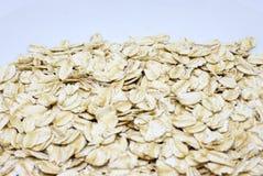 Organische gerolde haver - gezond voedsel stock fotografie
