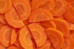 Organische gesneden wortelen stock fotografie