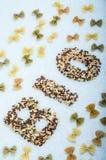 Organische Getreide und Hülsenfrüchte der Teigwaren Lizenzfreie Stockfotos