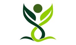 Organische gezondheids het Leven vector illustratie