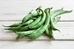 Organische grüne Bohnen stockbilder