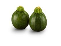 Organische groene verscheidenheid om Courgettes Stock Foto's