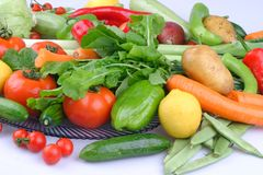 Organische Groep verschillende fruit en groenten royalty-vrije stock foto's