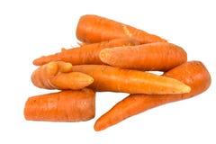 Organische Karotten lokalisiert auf weißem Hintergrund lizenzfreies stockbild