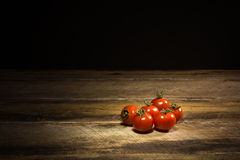 Organische Kirschtomaten Stockfoto