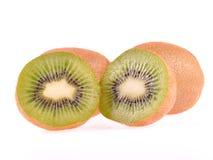Kiwi op witte achtergrond Stock Foto's