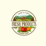 Organische & landbouwbedrijf-vector etiketten en elementen Royalty-vrije Stock Afbeelding