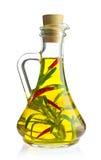 Organische landbouwbedrijfolijfolie met kruid en kruid Royalty-vrije Stock Afbeeldingen