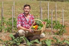 Organische Landbouwer Stock Fotografie
