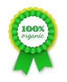 100% organische lintrozet Royalty-vrije Stock Foto