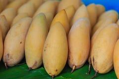Organische Nam Dok Mai-mango's voor verkoop bij de fruitmarkt Na Stock Foto's