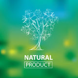 Organische natürliche Logos Stockbilder