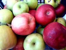 Organische, natuurlijke appelen royalty-vrije stock afbeelding