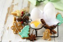 Organische natuurlijke eieren stock foto