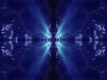 Organische Oberfläche der blauen dunklen ausländischen Fantasie mit Blau Stockfoto