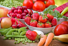 Organische Obst und Gemüse Stockfoto