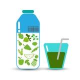 Organische Obst und Gemüse Auch im corel abgehobenen Betrag Lizenzfreies Stockfoto
