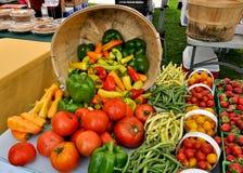 Organische opbrengst bij de Markt van Landbouwers Stock Foto