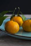 Organische Orangen stockfoto