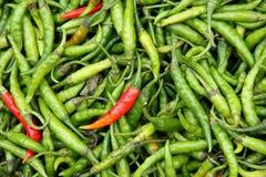 Organische peper in een stapel Stock Afbeeldingen