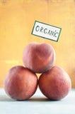 Organische Pfirsiche Stockfoto