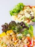 Organische plantaardige salade Stock Afbeelding