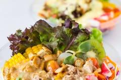 Organische plantaardige salade Stock Fotografie