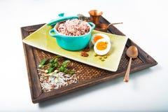 Organische Rijstbes stock foto
