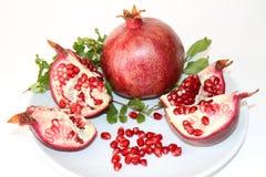 Organische Rode Rijpe Granaatappel Royalty-vrije Stock Fotografie