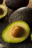 Organische rohe grüne Avocados Stockbild