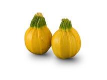 Organische ronde gele Courgettes Royalty-vrije Stock Afbeeldingen