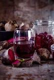 Organische Rote-Bete-Wurzeln Produkte Lizenzfreies Stockbild