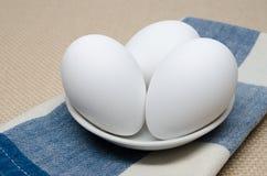 Organische ruwe eieren royalty-vrije stock fotografie