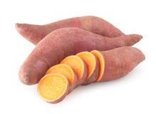 Organische süße Kartoffeln Lizenzfreies Stockbild