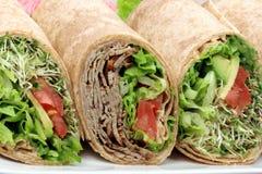 Organische sandwichomslagen stock fotografie