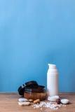 Organische schoonheidsmiddel en ingrediënten Royalty-vrije Stock Foto's