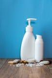 Organische schoonheidsmiddel en ingrediënten Royalty-vrije Stock Fotografie