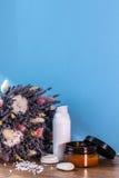 Organische schoonheidsmiddel en ingrediënten Stock Fotografie