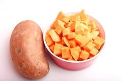 Organische süße Kartoffeln Stockfotos
