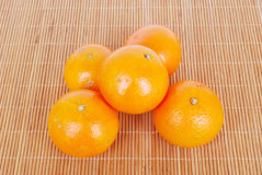 Organische Tangerinen Stockfotos